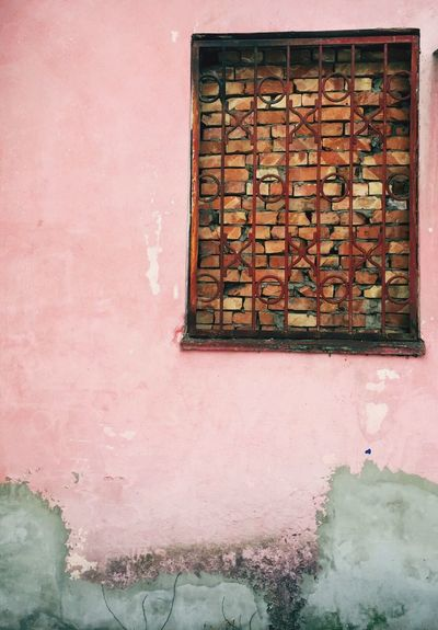 No People Outdoors Day Window Colors Bricks Rosé