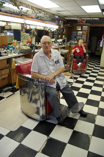 Barber, whose