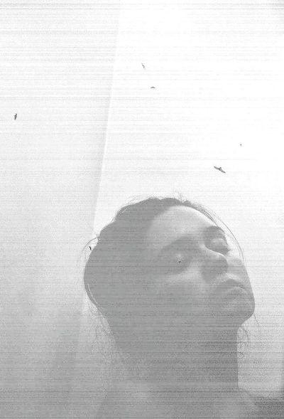 Mood Melancholia Selfportrait Bird EyeEm Best Shots Diptic Blackandwhite BackToBlack