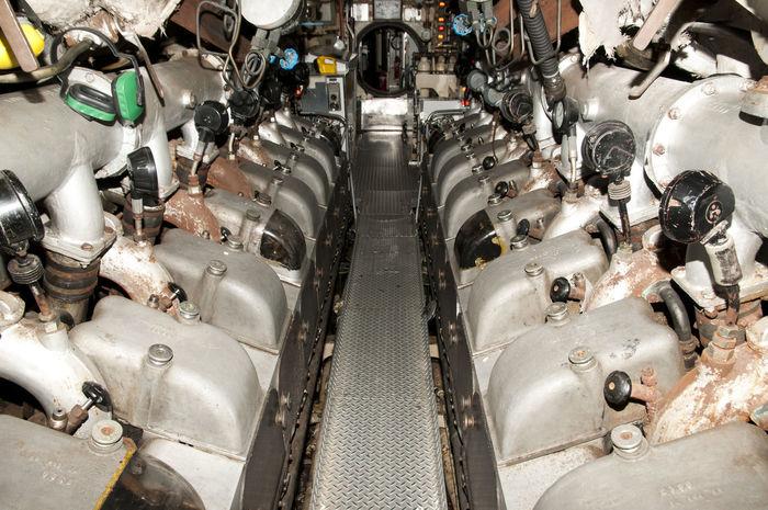 Submarine Engine Room Australia Engine Room Sub Fremantle  Machinery Navy Submarine