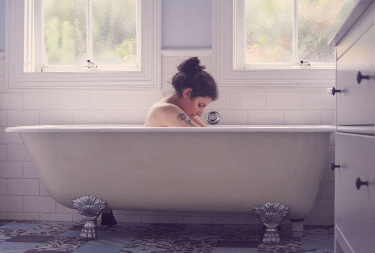 Self Portrait Pastel Portrait Photography Self Portrait Creative Creative Photography Domestic My Best Photo Water Shower Domestic Room Young Women Bathroom Women Taking A Bath Washing Window Domestic Bathroom Bathtub The Portraitist - 2019 EyeEm Awards