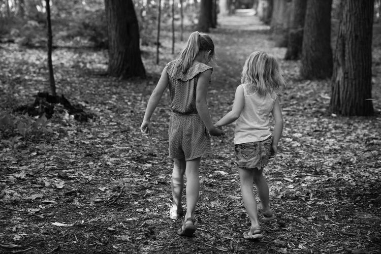 taking a walk in the forest Children Family Holding Hands Kids Being Kids Love Nature Path Sisters Trees Wanderlust Blackandwhite Bnw Childhood Cute Day Forest Girls Leisure Activity Outdoors Real People Togetherness Walking Be. Ready. Black And White Friday Press For Progress This Is Family #FREIHEITBERLIN Human Connection