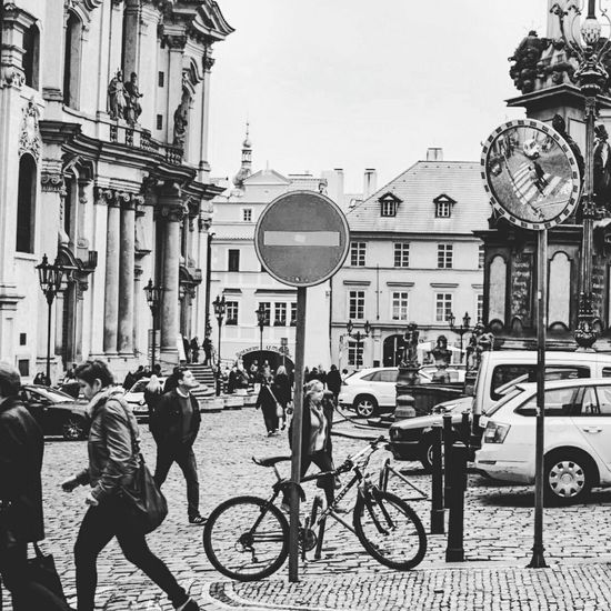 Urban Prague Street Photography Blackandwhite Minimal Streetphoto_bw Monochrome Czech Republic Blackandwhitephotography Bw_collection Visiting Prague Enjoying Life Mission Prague Cityspaces Praguedowntown Gateway Street Reflection Mirror