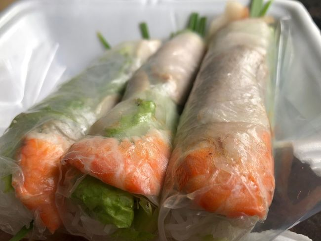 Spring roll Food And Drink Food Freshness Seafood Healthy Eating Wellbeing Close-up Ready-to-eat Indoors  High Angle View Asian Food No People