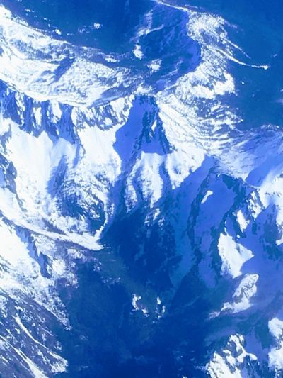 Blue Beauty In Nature Nature Winter Cold Temperature Scenics - Nature Snow Environment Tranquil Scene Tranquility Day No People Mountain Sky Idyllic Landscape Outdoors Mountain Range Aerial View Snowcapped Mountain