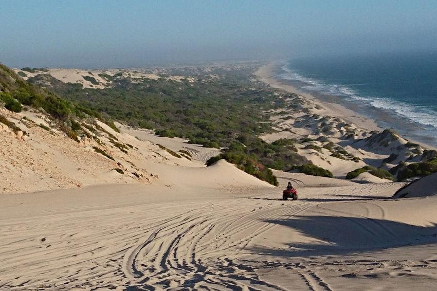 Quad Biking Dunes Australia Wagoe Beach Landscape Seascape XperiaZ5 Nature Beauty In Nature Outdoors Land Vehicle Arid Climate 4x4 Off-road Vehicle Sand Dune Clear Sky Desert