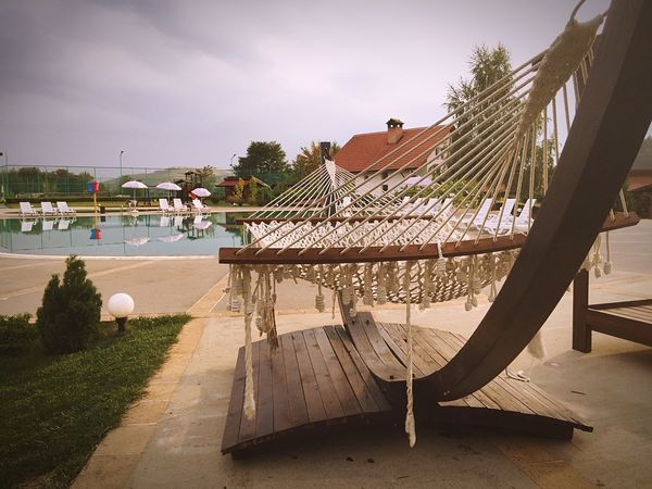 Travel Unfortunately the weather could be a bit better😎 Relaxing Chilling Outdoors Hamak Swimming Pool Holiday Timeoff Check This Out