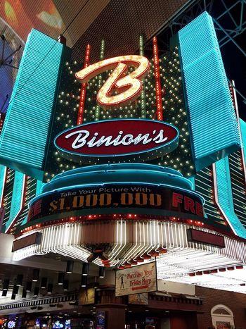 Neon Illuminated Vertical Night Travel Destinations Architecture Sign Vintage VEGAS🎲 Freemont Street