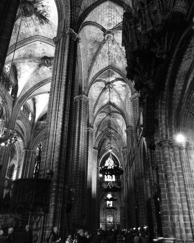 Catedral De Barcelona Gaudi Barrio Gótico Architectural Detail Barcelona España🇪🇸 SPAIN