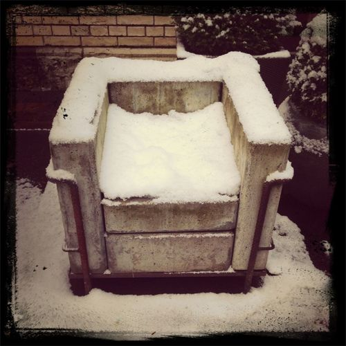 Concrete Chair City 2.0 - The Future Of The City Winter White By CanvasPop