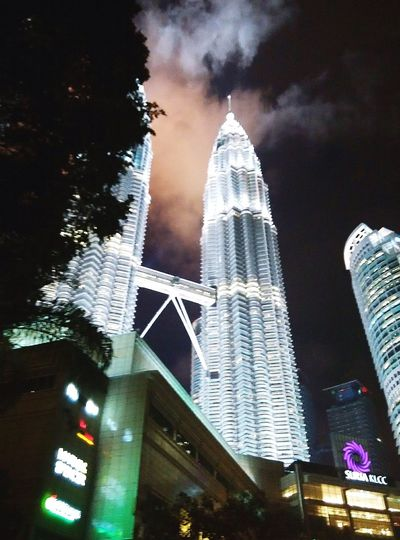 KLCC Twin Towers KLCC❤❤ Night Architecture Skyscraper Building Exterior Built Structure Cityscape Modern Urban Skyline Outdoors Klcc At Night