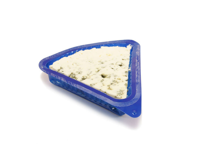 Container Blue Cheese Close-up Cut Out Food Freshness Isolated On White No People Ready-to-eat Roquefort Single Object Still Life Studio Shot White Background