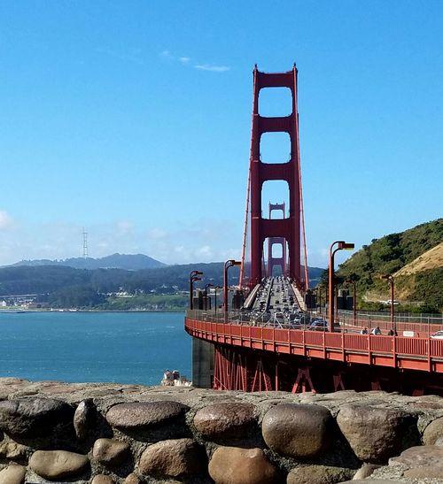 Golden Gate Bridge GatewaytoSF Sanfrancisco Sflife Citylife Sf_insta Sfdreaming Mybeautifulcity Sutrotower Commute Morningtraffic