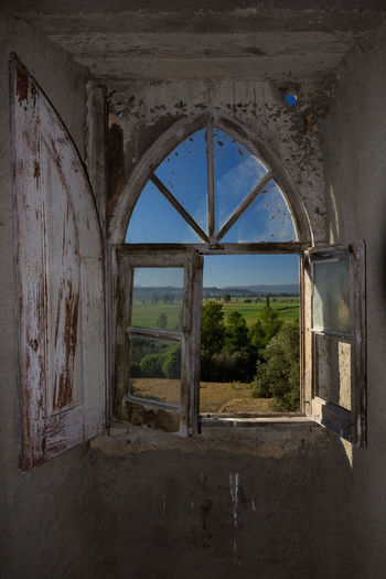 Abandoned Arch Architecture Built Structure Damaged Day Indoors  Nature No People Old Ruin Sky Window