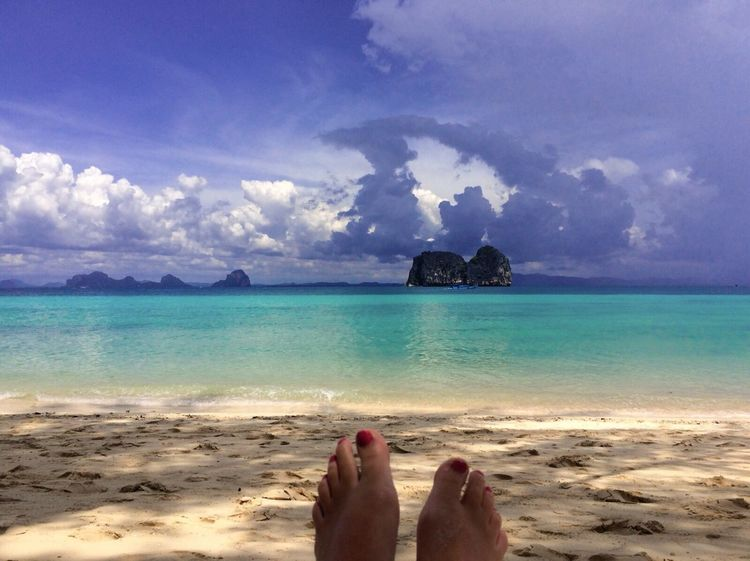 Sandy Feet Ocean View Relaxing Cloudy Koh Hai Koh Ngai Colourful Nature