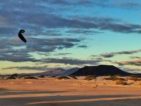 Corralejo Fuerteventura Kite Kitesurfing Kiteboarding RePicture Masculinity Light And Shadow Sunset IPhoneography