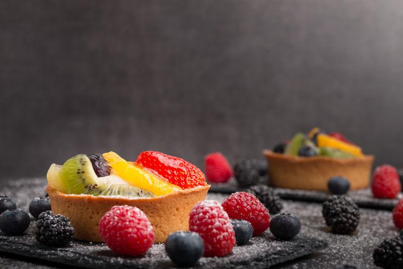 fruit tart on a