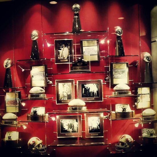 49ers trophys