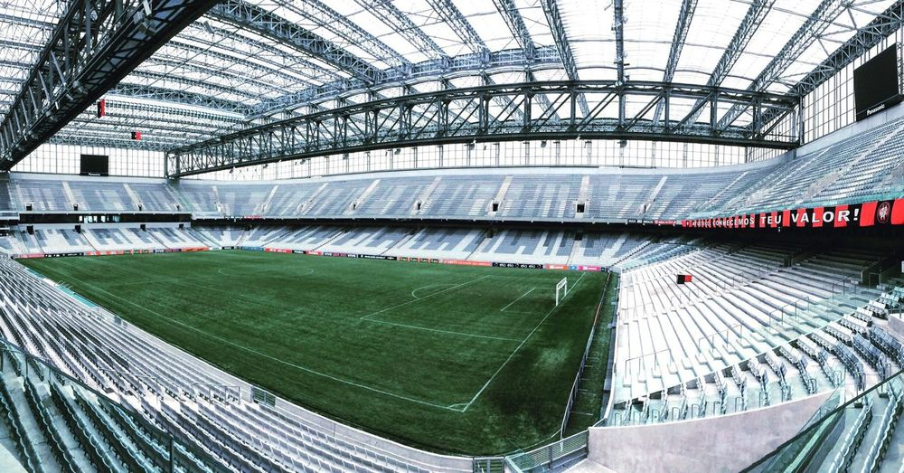 Arenadabaixada AtleticoParanaense Curitiba Paraná Brasil Brazil Architecture Stadium Modern Architecture Indoors  Football Soccer Arena