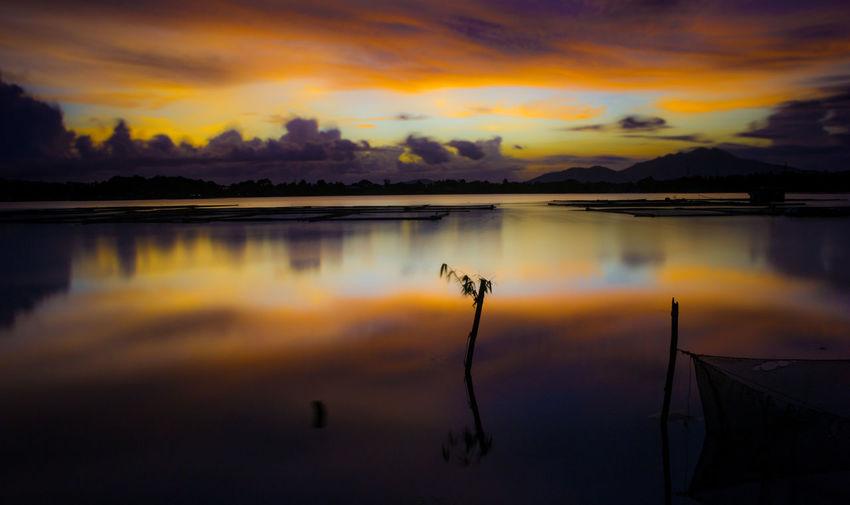 sunset view at Sampaloc Lake in San Pablo, Laguna Laguna Sampaloc Lake San Pablo Laguna Lake Lake View Lake Views Lakeside Reflection At Sampalok Lake Sunset At Sampaloc Lake