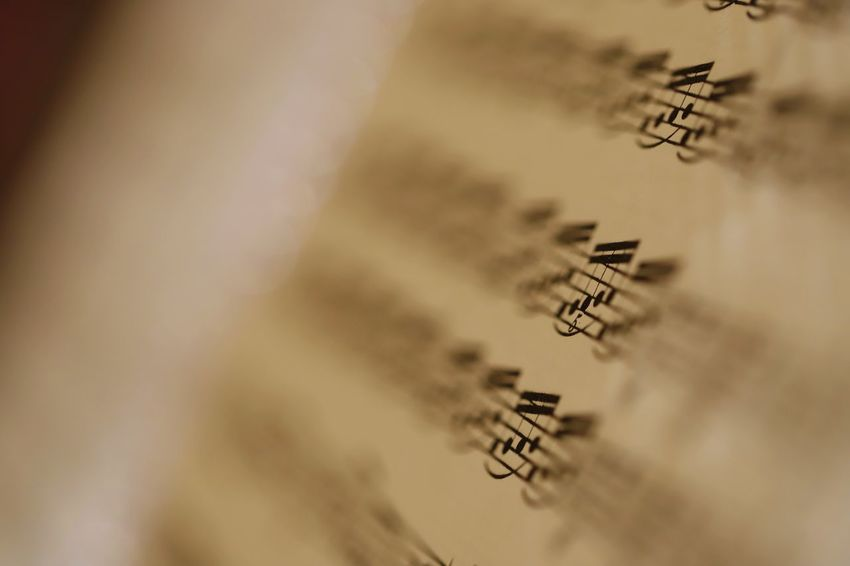Life can be a beautiful melody when played right. Paper Close-up No People Selective Focus Indoors  Sheet Arts Culture And Entertainment Music Accuracy Text Art And Craft Full Frame Education Sheet Music Business Backgrounds Writing Expertise Symbol
