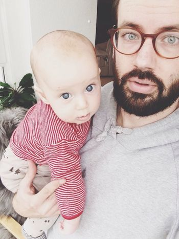 Baby Father & Son Cute Selfie