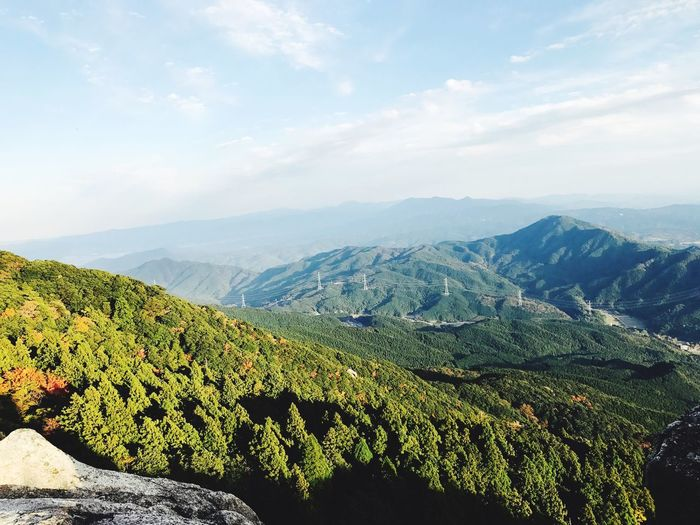 Mount Summit Beauty In Nature Nature Scenics Tranquil Scene Tranquility Mountain Landscape Agriculture Sky Mountain Range Green Color