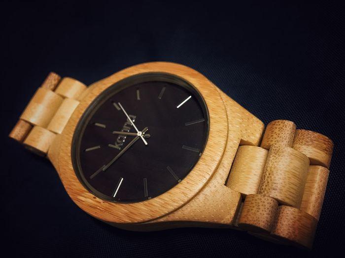 Bamboo watch.