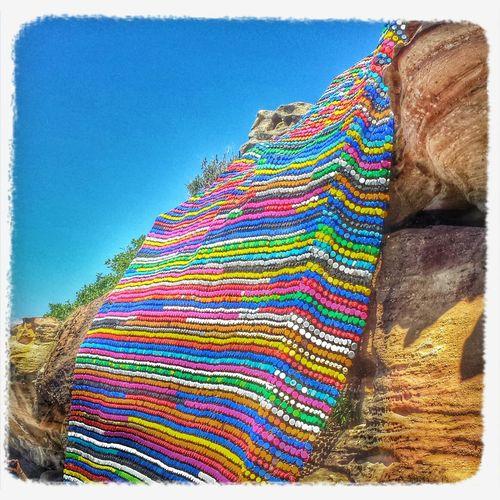 Bottle top blanket.... Sculpturesbythesea2013