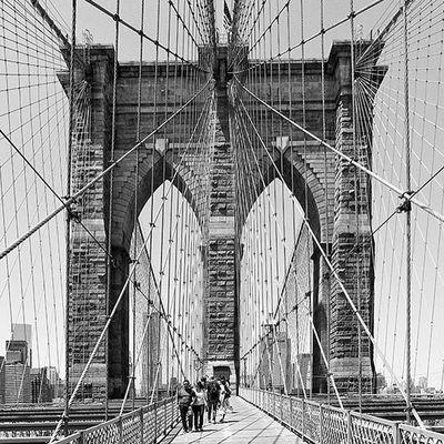 Cityscapes NYC Bridge Architecture New York Streetphotography Streetphoto_bw Traveling Blackandwhite City