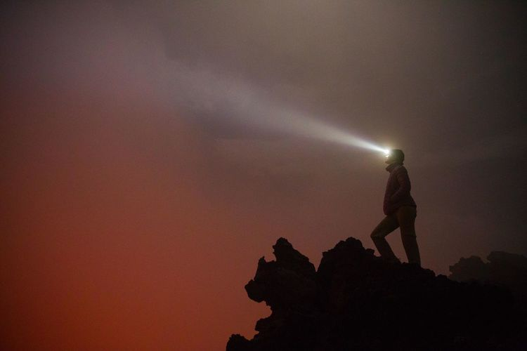 Adventure Africa African Adventure Democratic Republic Of The Congo Female Fog Hiking Landscape Light Trail Long Exposure Long Exposure Shot Misty Mountain Mountain Peak Mountain View Night Orange Sky Outdoors Red Scenics Silhouette Virunga Volcano