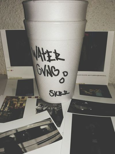 WATERGVNG Indoors  Paper No People Archival Day Text Water Gvng Skrrrtttttt Trap Trappin SPAIN First Eyeem Photo