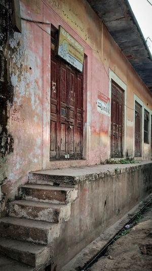 Exterior of old abandoned building
