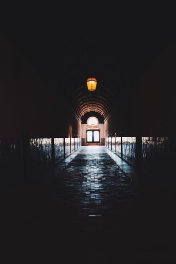 Church Hallway Hall The Way Forward Arch Architecture Indoors  Built Structure Illuminated No People EyeEm Ready   EyeEmNewHere
