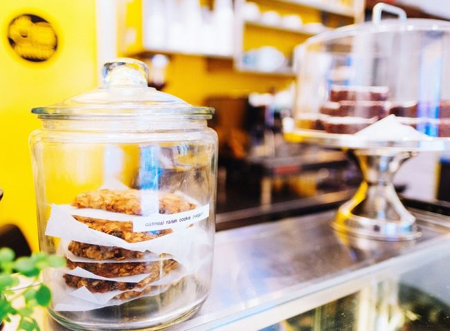 Oatmeal cookies Food And Drink Refreshment Drink Drinking Glass No People Table Focus On Foreground Indoors  Freshness Close-up Food Sweet Food Day Ready-to-eat Oatmeal Cookies Vittles Cafe Brooklyn New York