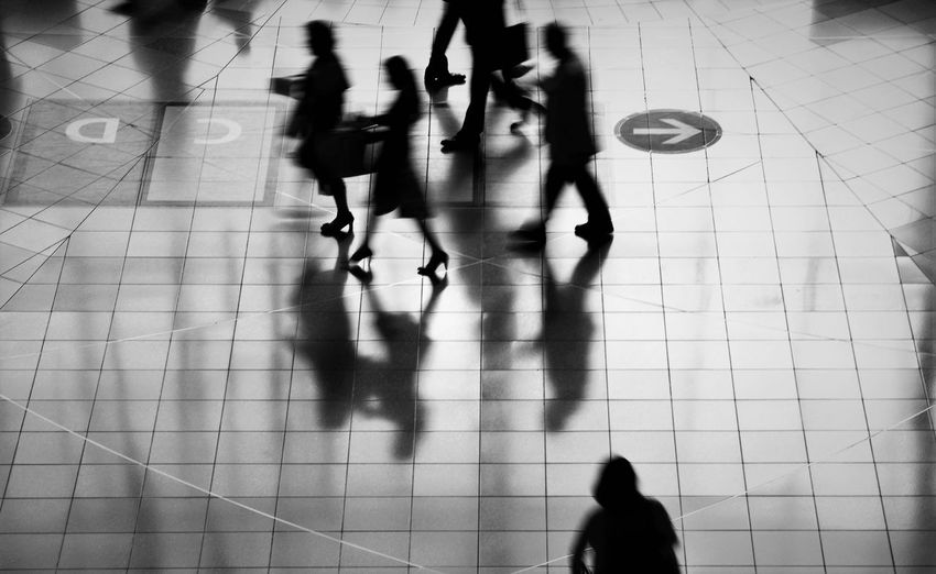Blackandwhite City Life Floor Indoors  People Of EyeEm Shadow Silhouette Streetphotography Walking