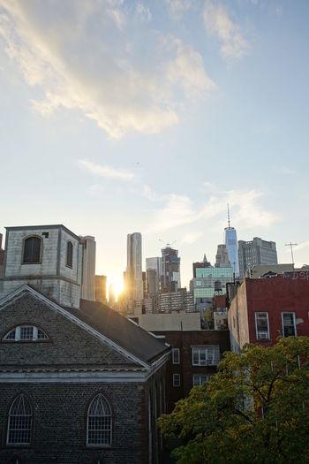 City against sky