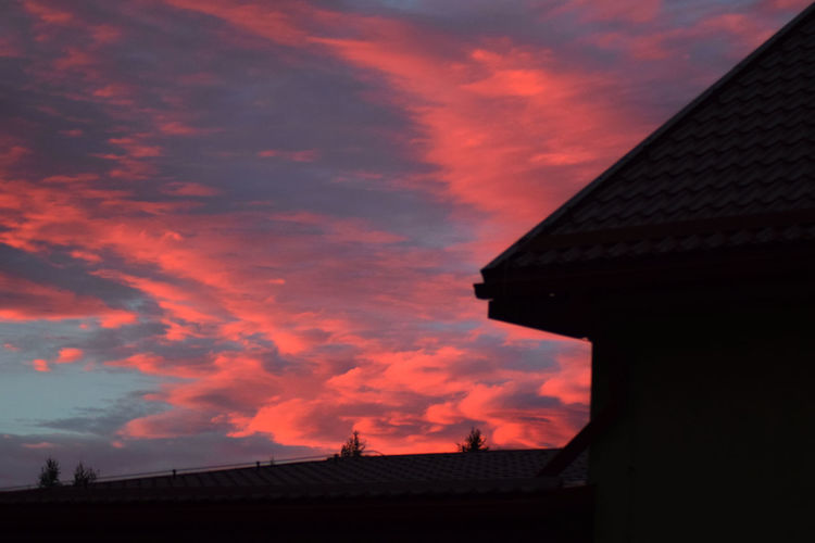 Architecture Building Exterior Built Structure Cloud - Sky Nature No People Outdoors Roof Silhouette Sky Sunset Perspectives On Nature