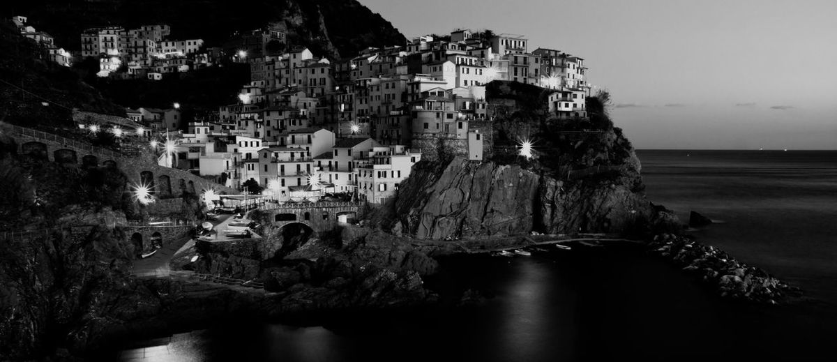 Architecture Built Structure Water Rock Formation No People Sea Old History The Past Travel Destinations Travel City Residential District Rock Building Exterior Building Cinque Terre Mediterranean  Mediterranean Sea Houses Hillside