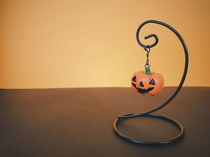 Close-up of halloween decoration on table