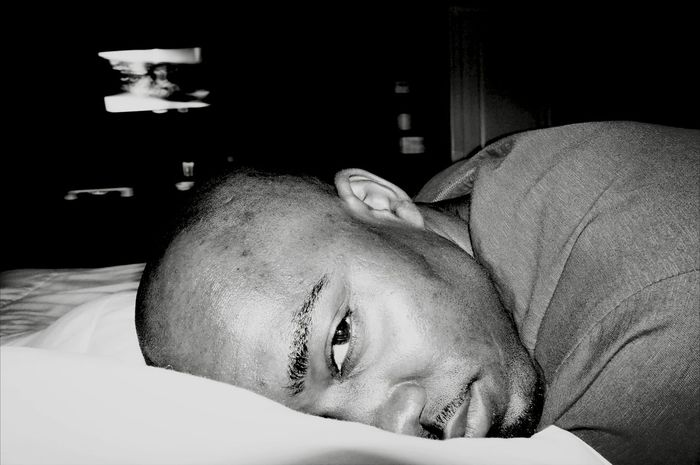 Bald Head Long Day Tired Headshot