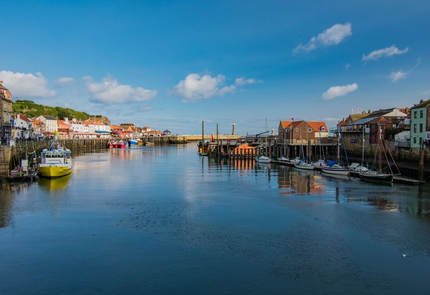 Whitby Harbour Whitby Sea And Sky Reflection Sea Water Clouds And Sky Water_collection Skyporn Sky And Clouds EyeEm Gallery EyeEmBestPics EyeEm Best Shots Sky_collection Eye4photography  Sky Architecture Cloud - Sky Nature Sea Travel Destinations Nautical Vessel Building Exterior Transportation Built Structure Holiday