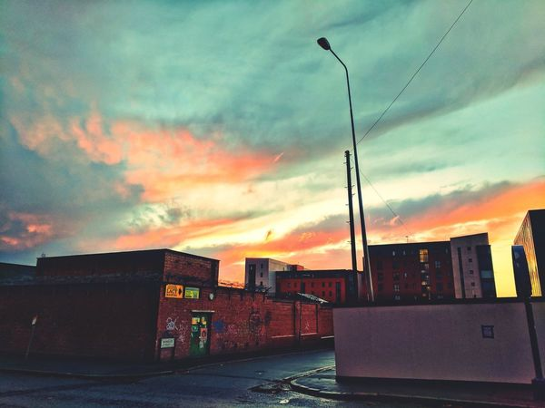 The back streets of Liverpool... And the sunset Sky Sunset No People Built Structure Outdoors Architecture City Urban Urban Decay Liverpool, England Cloud - Sky Night Scenics Street