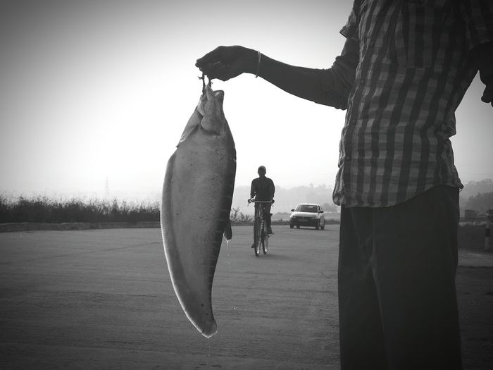 Fish For Sale Winter Morning Foggy Morning Black And White Black & White Monochrome Eyeem Monochrome Monochrome _ Collection Blackandwhite Black And White Collection