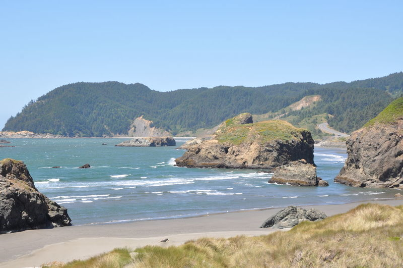 Beach Clear Sky Cliff Coastline Geology Mountain Oregon Oregon Coast Outdoors Rock Formation Sea Shore Travel Destinations Water