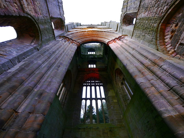 Arch Architecture Building Exterior Built Structure Day December December 2016 Fountains Abbey Fountains Abbey Yorkshire Fountains Abbey, Yorkshire History Low Angle View No People Outdoors