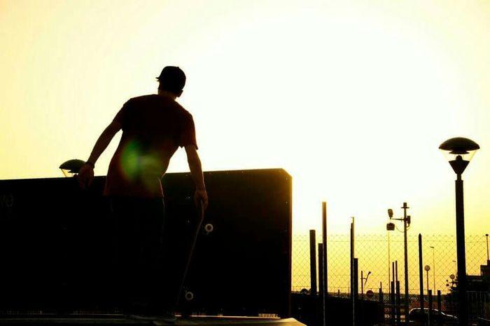 Italy Skate Skatepark Sunset Goldlight Streetphotography Nikond90