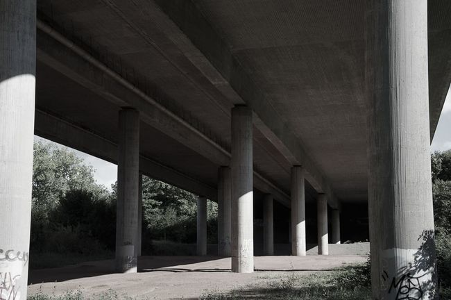 Architectural Column Architecture Below Bridge - Man Made Structure Built Structure Connection No People Outdoors Transportation Underneath