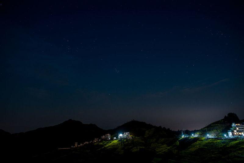 中国安徽歙县 坡山村夜景