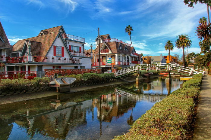 Venice Beach House Canal Venice Canals CA Reflection Travel Destinations Water Sky Vacations Architecture Outdoors Day Building Exterior No People
